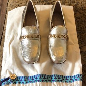 Authentic Tory Burch Gold Loafers, Very Rare